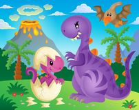 Dinosaurierthemabild 4 Lizenzfreie Stockfotografie
