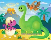 Dinosaurierthemabild 5 Stockbild