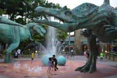 Dinosauriespringbrunn Royaltyfri Foto