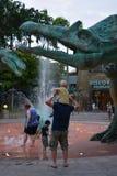 Dinosauriespringbrunn Royaltyfri Bild
