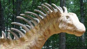 Dinosauriestället på naturs Art Village i Montville, Connecticut Royaltyfria Foton