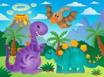 Dinosaurietemabild 3 Arkivbild