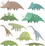 Dinosaurieuppsättning 2 Arkivbild