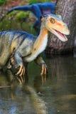 Dinosaurieutställningen i botaniskt parkerar Fotografering för Bildbyråer
