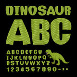 dinosaurio ABC Fuente del reptil prehistórico Cartas verdes Textur libre illustration