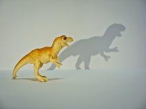 Dinosaurio anaranjado del tiranosaurio del juguete Imagen de archivo