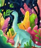 Dinosaurio azul ilustración del vector