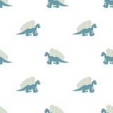 Dinosaurio azul en un fondo blanco Imagen de archivo libre de regalías