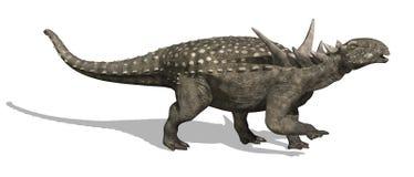 Dinosaurio de Sauropelta stock de ilustración