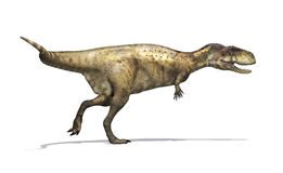 Dinosaurio del Abelisaurus stock de ilustración