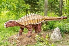 Dinosaurio del Ankylosaurus en un bosque verde fotos de archivo libres de regalías