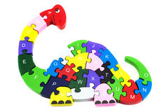 Dinosaurio del rompecabezas Imagen de archivo