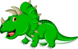 Dinosaurio divertido del Triceratops Imágenes de archivo libres de regalías