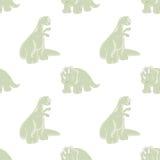 Dinosaurio divertido Fondo inconsútil Fotografía de archivo