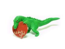 Dinosaurio en amor fotos de archivo libres de regalías