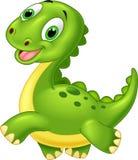 Dinosaurio feliz de la historieta Fotografía de archivo