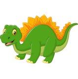 Dinosaurio feliz de la historieta Foto de archivo
