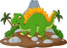 Dinosaurio feliz de la historieta Imágenes de archivo libres de regalías
