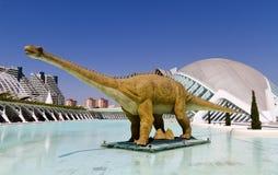 Dinosaurio la ciudad de los artes y de las ciencias Valencia Imagen de archivo libre de regalías