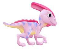 Dinosaurio lindo de la historieta del Hadrosaur Imagen de archivo libre de regalías