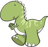 Dinosaurio lindo del vector Imagenes de archivo