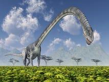 Dinosaurio Omeisaurus stock de ilustración