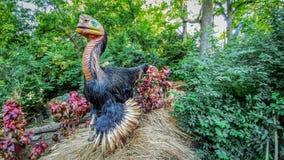 Dinosaurio - parque zoológico del condado de Milwaukee fotografía de archivo