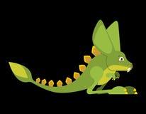 Dinosaurio prehistórico del jerbo Dino está saltando Animal Mons del rapaz stock de ilustración