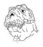 Dinosaurio principal del contorno Imagenes de archivo