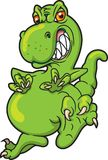 Dinosaurio que actúa violentamente Foto de archivo libre de regalías