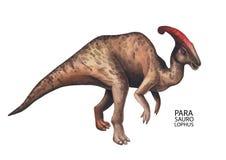 Dinosaurio realista de la acuarela Foto de archivo