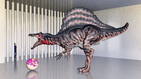 Dinosaurio Spinosaurus en el parque zoológico Fotos de archivo libres de regalías