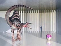 Dinosaurio Spinosaurus en el parque zoológico Foto de archivo libre de regalías