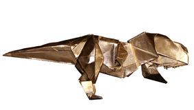 Dinosaurio T-REX de la papiroflexia aislado en blanco imagen de archivo libre de regalías