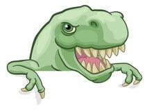 Dinosaurio T Rex Peeking y se?alar la historieta de la muestra libre illustration