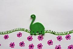 Dinosaurio verde Imagen de archivo libre de regalías