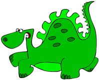 Dinosaurio verde Imágenes de archivo libres de regalías