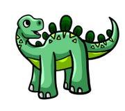 Dinosaurio verde feliz grande libre illustration