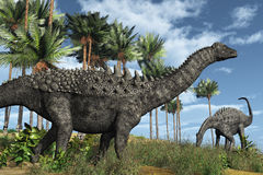 Dinosaurios de Ampelosaurus Imagen de archivo libre de regalías