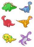 Dinosaurios de la historieta Foto de archivo libre de regalías