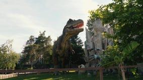Dinosaurios en el parque metrajes