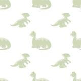 Dinosaurios en fondo inconsútil Imagen de archivo libre de regalías