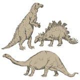 Dinosaurios fijados Foto de archivo libre de regalías