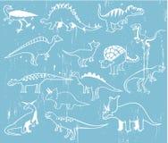Dinosaurios lindos de la historieta Fotografía de archivo