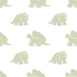 Dinosaurios lindos en un fondo blanco Foto de archivo libre de regalías