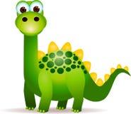 Dinosaurios verdes lindos Fotografía de archivo libre de regalías