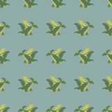 Dinosaurios verdes que vuelan Fotografía de archivo libre de regalías