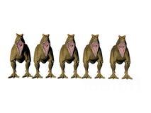 dinosaurlineup Arkivbild