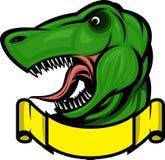 dinosaurmaskot Fotografering för Bildbyråer