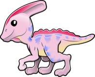 Dinosauro amichevole sveglio royalty illustrazione gratis